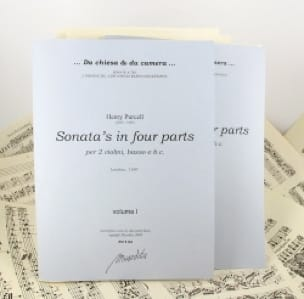 Ten Sonata's in four parts Volume 1-2 - PURCELL - laflutedepan.com