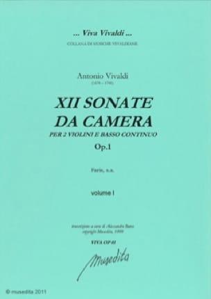 Sonate da camera op. 1 - VIVALDI - Partition - laflutedepan.com
