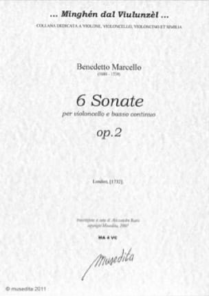 Benedetto Marcello - 6 Sonatas - Partition - di-arezzo.co.uk