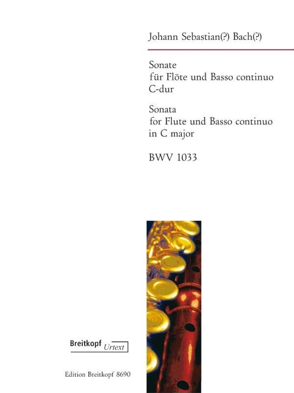 Sonate en Do Maj. BWV 1033 - BACH - Partition - laflutedepan.com