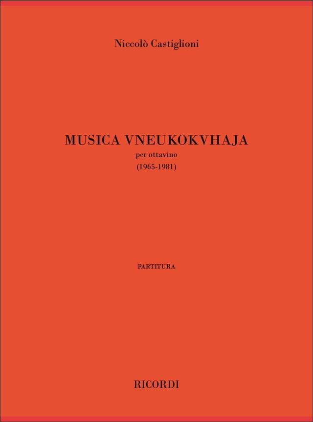 Musica Vneukohvhaja - Nicolo Castiglioni - laflutedepan.com