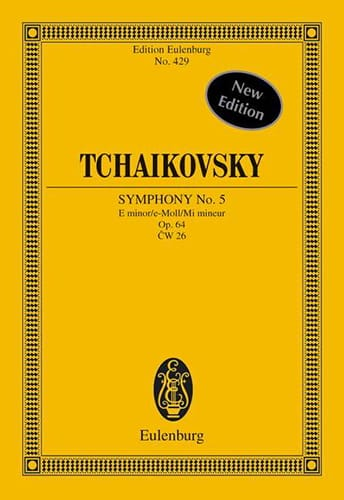 TCHAIKOVSKY - Symphony No. 5 In E Minor Op. 64 - Conductor - Partition - di-arezzo.co.uk