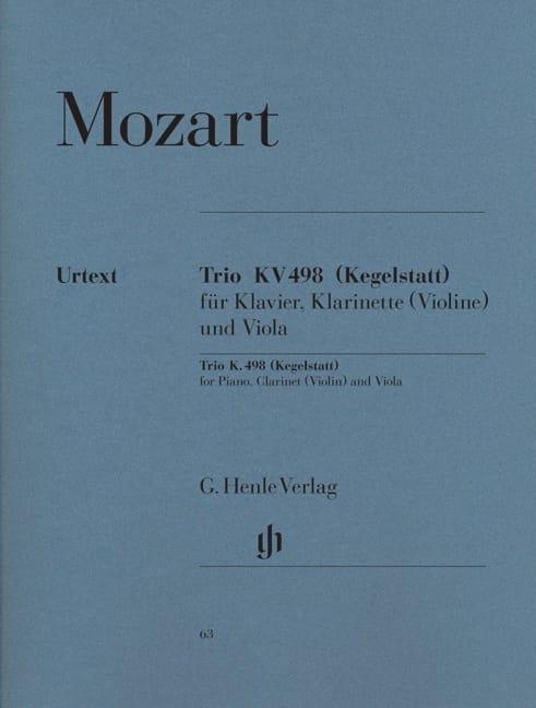 MOZART - Trio Kv 498 Kegelstatt - Partition - di-arezzo.co.uk