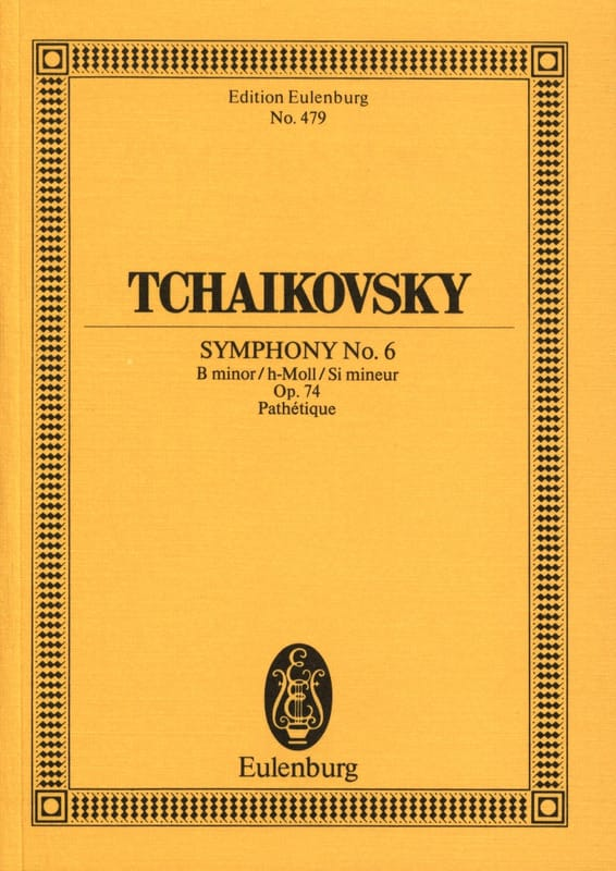 TCHAIKOVSKY - Symphony No. 6 h-moll op. 74 Pathetic - Partitur - Partition - di-arezzo.co.uk