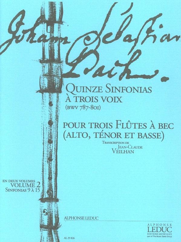 Quinze Sinfonias à Trois Voix vol.2 - BWV 787-801 - laflutedepan.com