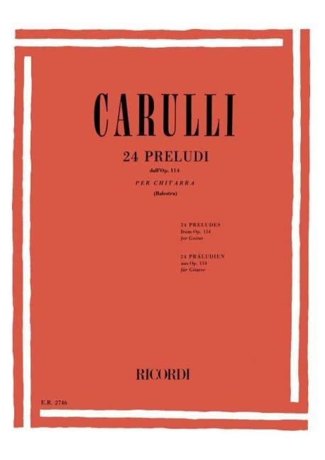24 Préludes Opus 114 - Ferdinando Carulli - laflutedepan.com