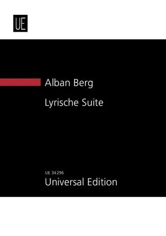 Alban Berg - Lyrische Suite New study score - Partition - di-arezzo.co.uk