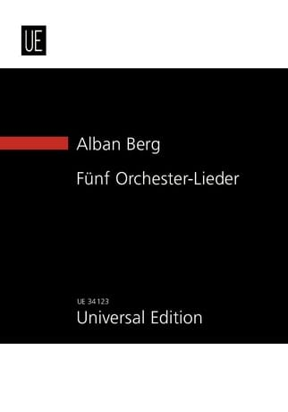 Alban Berg - 5 Orchester-Lieder Op. 4 New Study Score - Partition - di-arezzo.co.uk