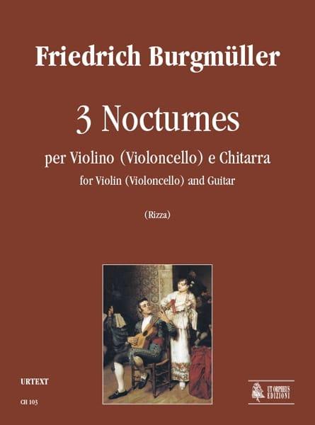 3 Nocturnes - Friedrich Burgmüller - Partition - 0 - laflutedepan.com