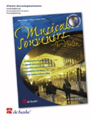 Musical Souvenirs For Violon- Accompagnement Piano - laflutedepan.com