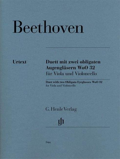 BEETHOVEN - Duo For two eyepieces obliged WoO 32 for viola and cello - Partition - di-arezzo.co.uk