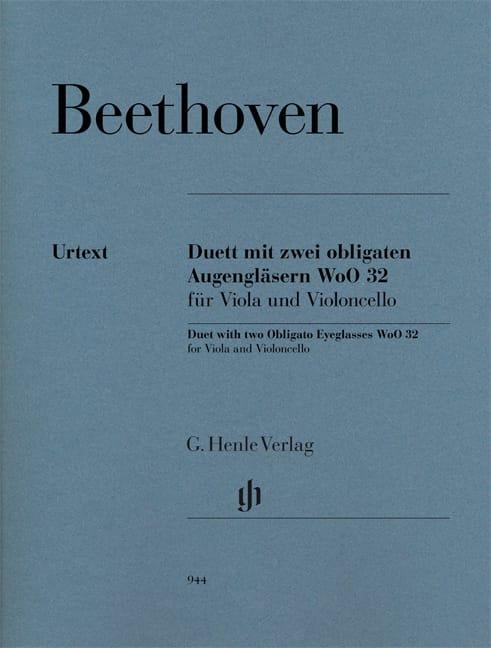 BEETHOVEN - Duo Para dos oculares obligados WoO 32 para viola y violonchelo - Partition - di-arezzo.es
