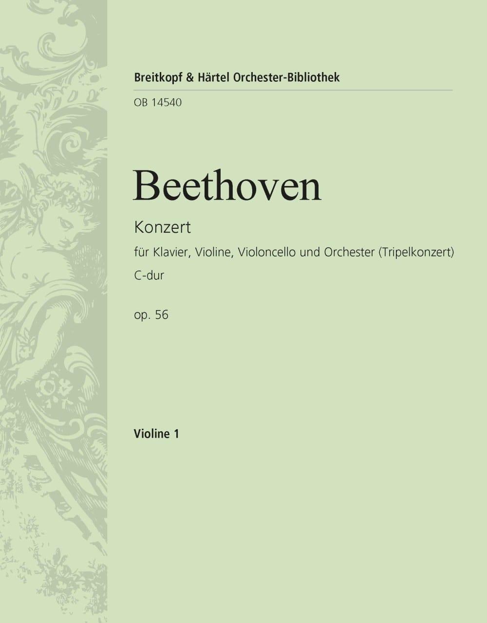 Konzert C-Dur op. 56 Triple-Konzert - violon 1 - laflutedepan.com