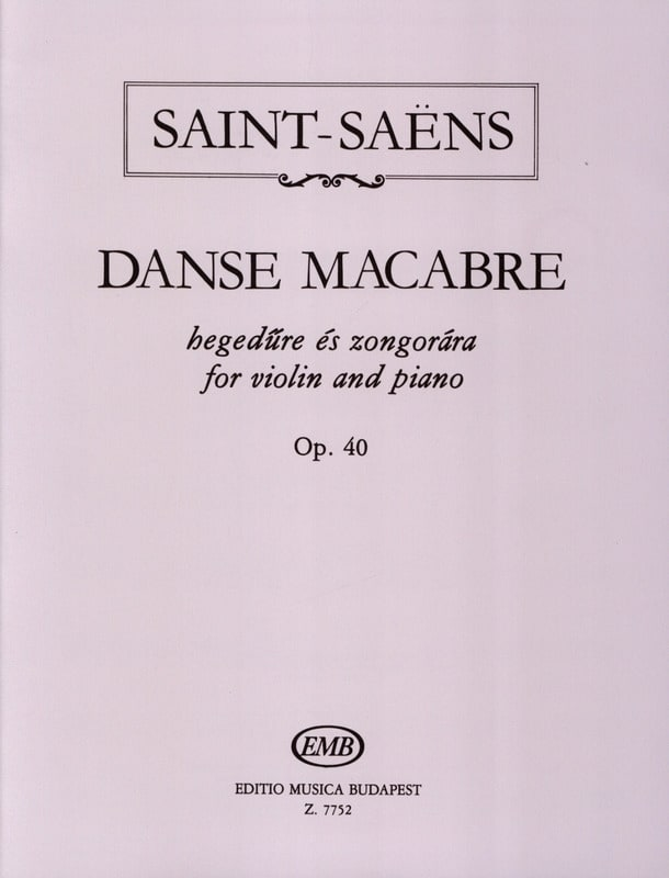 Camille Saint-Saëns - Dance Macabre Op. 40 - Partition - di-arezzo.co.uk