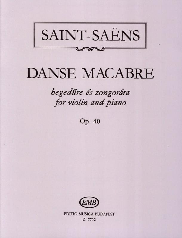 Camille Saint-Saëns - Dance Macabre Op. 40 - Partition - di-arezzo.com
