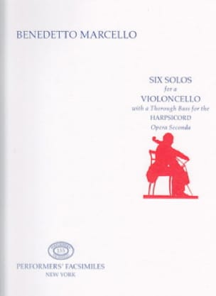 Benedetto Marcello - Six Solos for a Violoncello - Partition - di-arezzo.co.uk