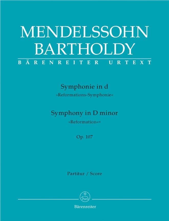 Symphonie en Ré Min. Op. 107 - MENDELSSOHN - laflutedepan.com