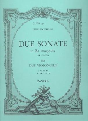 2 Sonates en Ré Majeur G571-572 pour 2 violoncelles - laflutedepan.com