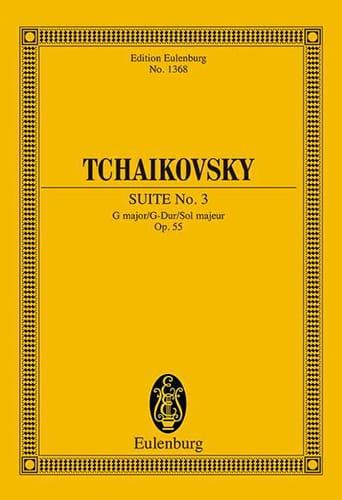 Suite N° 3 G-Dur, Opus 55 - TCHAIKOVSKY - Partition - laflutedepan.com