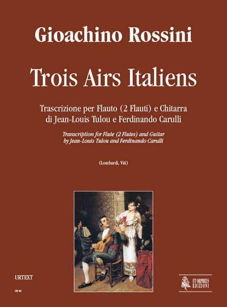 3 Airs Italiens - ROSSINI - Partition - Duos - laflutedepan.com