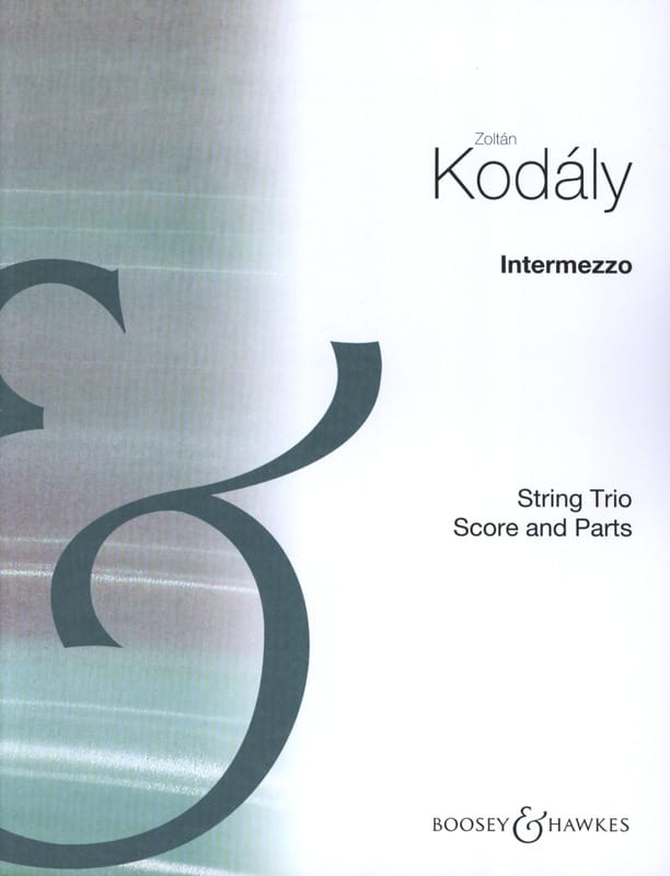 Zoltan Kodaly - Intermezzo - Partition - di-arezzo.co.uk