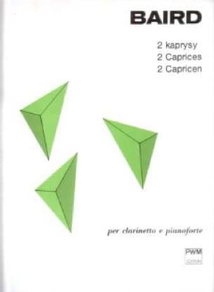 2 Caprices - Tadeusz Baird - Partition - Clarinette - laflutedepan.com