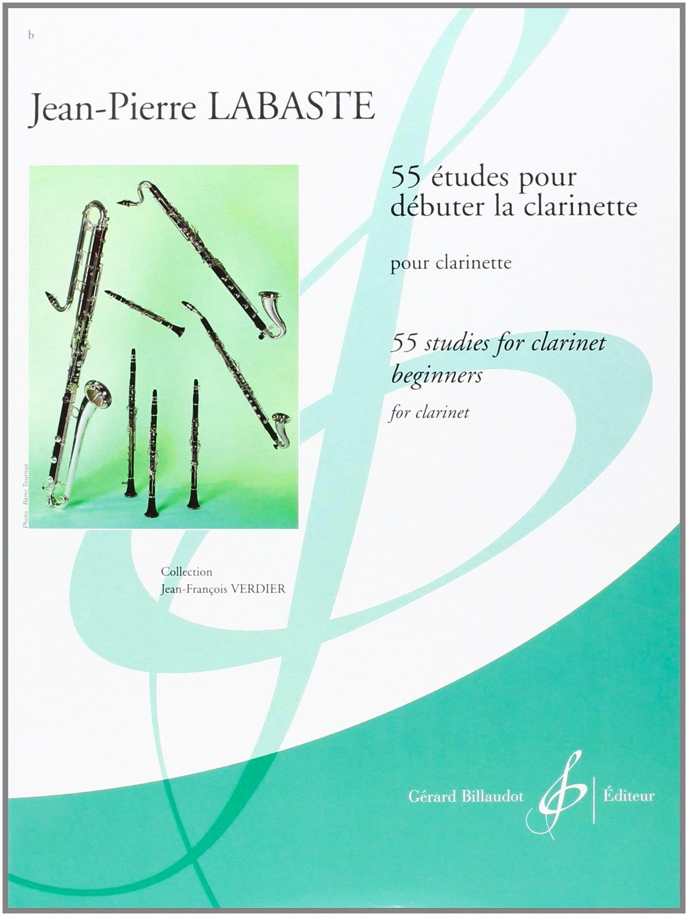 Jean-Pierre Labaste - 55 Studies to Start the Clarinet - Partition - di-arezzo.co.uk