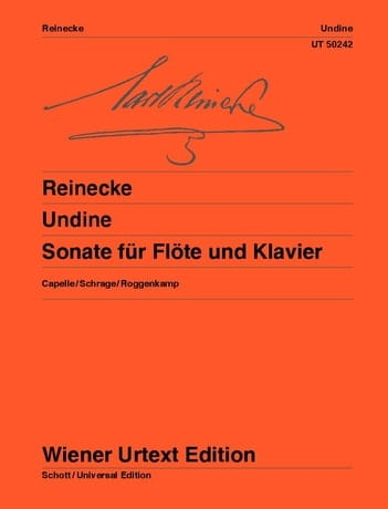 Carl Reinecke - Undine - Sonata for Flute and Piano - Partition - di-arezzo.com