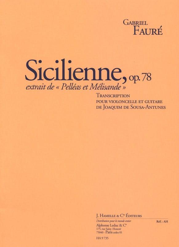 Sicilienne Op. 78 - FAURÉ - Partition - 0 - laflutedepan.com