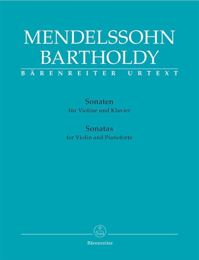 Sonates Pour Violon et Piano - MENDELSSOHN - laflutedepan.com