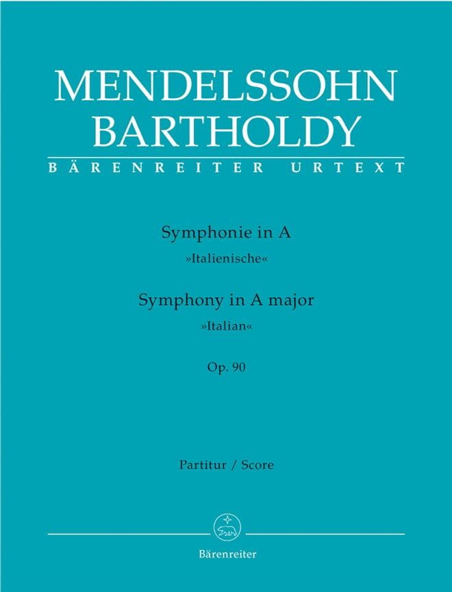 MENDELSSOHN - Symphony in the Major Op.90 Italian - Partition - di-arezzo.co.uk