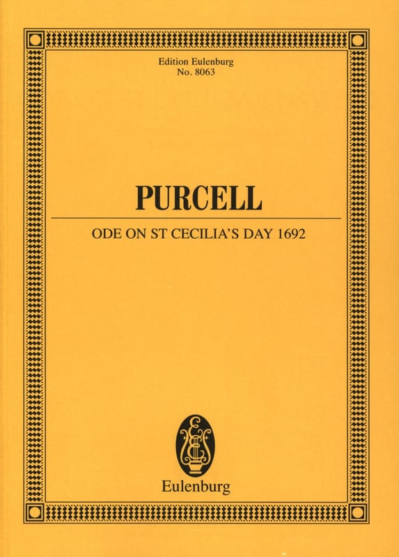 Ode On St Cecilia's Day 1692 - PURCELL - Partition - laflutedepan.com