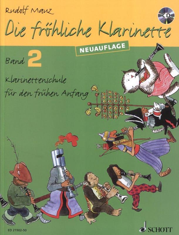 Die Fröhliche Klarinette Bd 2 Mit CD - Rudolf Mauz - laflutedepan.com