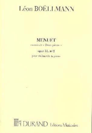 Léon Boëllmann - Moneda N ° 2 Op.31 - Menuet - Partition - di-arezzo.es