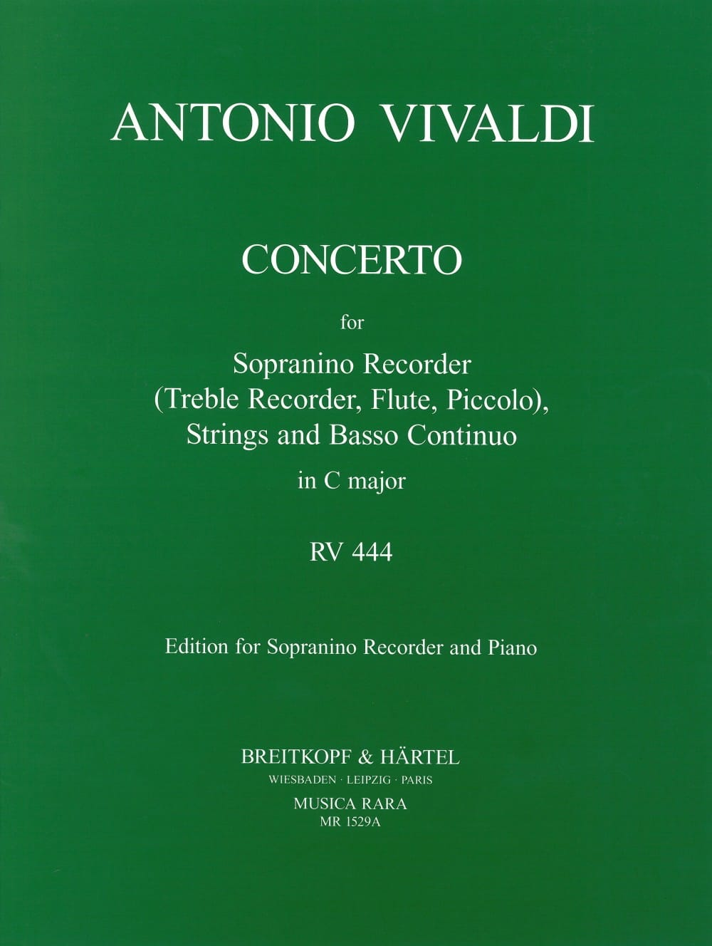 Concerto Rv 444 en Do Majeur - VIVALDI - Partition - laflutedepan.com