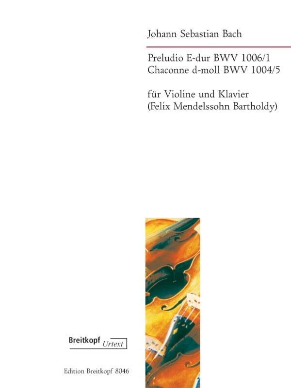 Preludio BWV 1006/1 & Chaconne BWV 1004/5 En Ré Min. - laflutedepan.com
