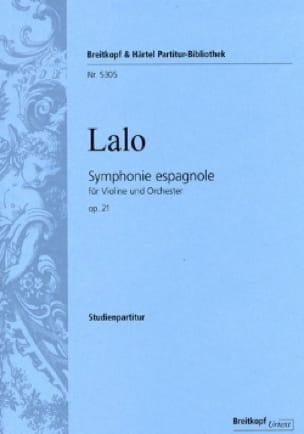 Symphonie Espagnole Opus 21 - LALO - Partition - laflutedepan.com