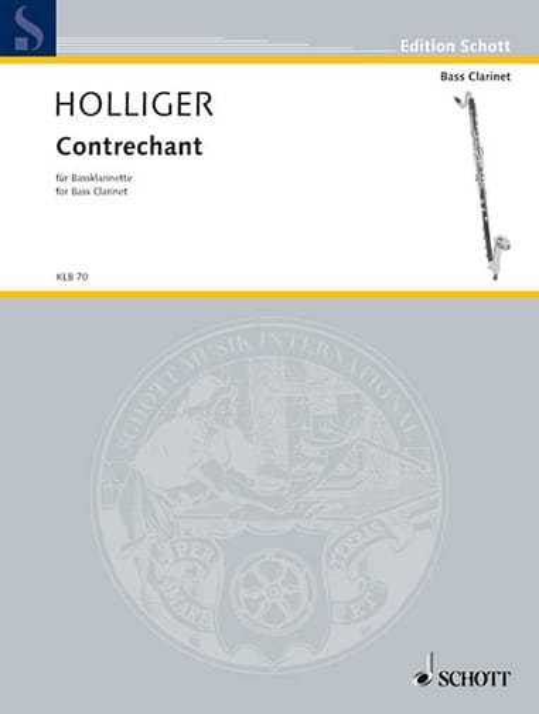 Contrechant - Heinz Holliger - Partition - laflutedepan.com
