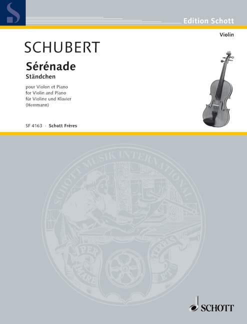 Sérénade - SCHUBERT - Partition - Violon - laflutedepan.com