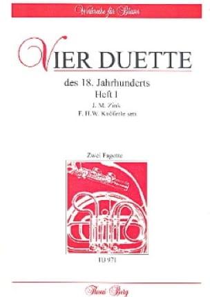 4 Duos du 18ème Siècle Volume 1 - Zink / Knöferle - laflutedepan.com