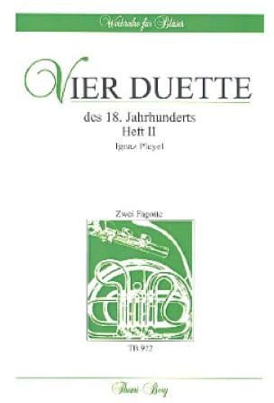 4 Duos du 18ème Siècle Volume 2 - Ignaz Pleyel - laflutedepan.com
