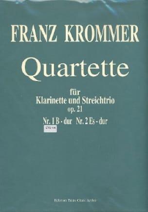 Franz Krommer - Quartette Op. 21 N ° 1 in Bb Maj. - Partition - di-arezzo.com