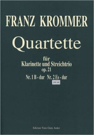 Quartuor Opus 21 N° 2 en Mi bémol Majeur - KROMMER - laflutedepan.com