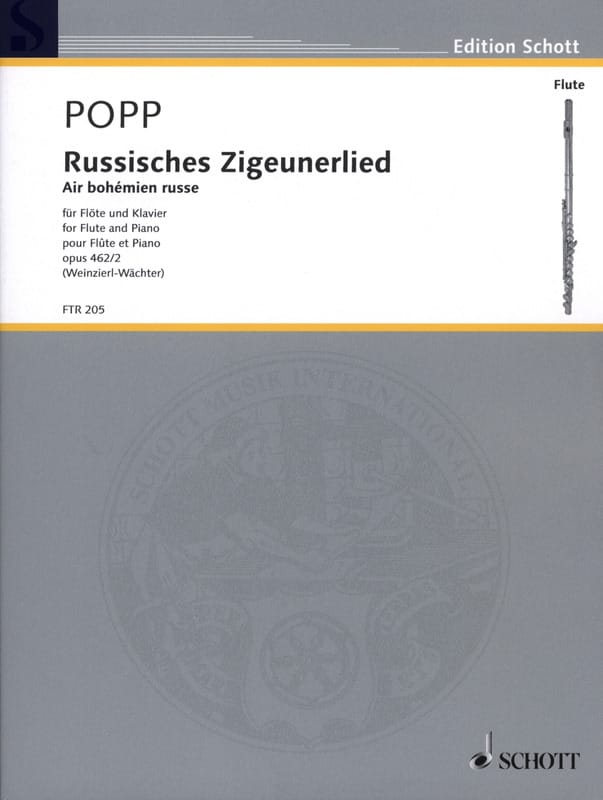 Wilhelm Popp - Russisches Zigeunerlied - Russian Bohemian Air - Opus 462 N ° 2 - Partition - di-arezzo.co.uk