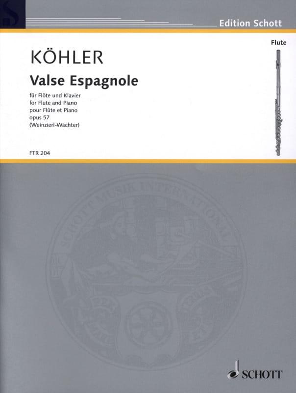 Ernesto KÖHLER - Spanish Waltz Opus 57 - Partition - di-arezzo.co.uk