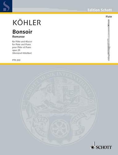 Ernesto KÖHLER - Good evening - Romance Op.29 - Partition - di-arezzo.co.uk