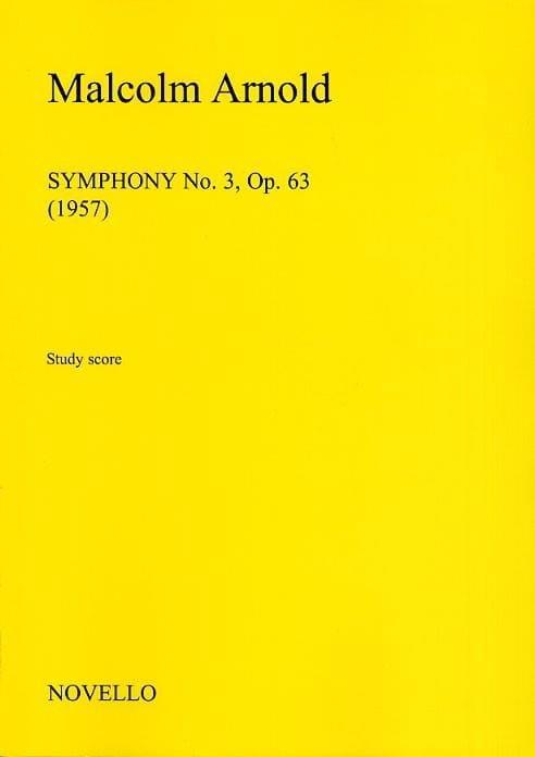 Malcolm Arnold - Sinfonía n.º 3 Op.63 - Partition - di-arezzo.es