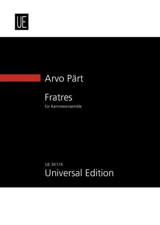 Fratres 1977/2007 - Arvo Pärt - Partition - laflutedepan.com