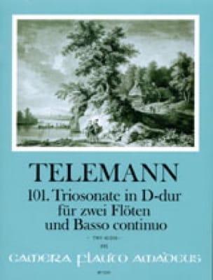 Triosonate 101 en ré maj- Twv 42:D16 - TELEMANN - laflutedepan.com