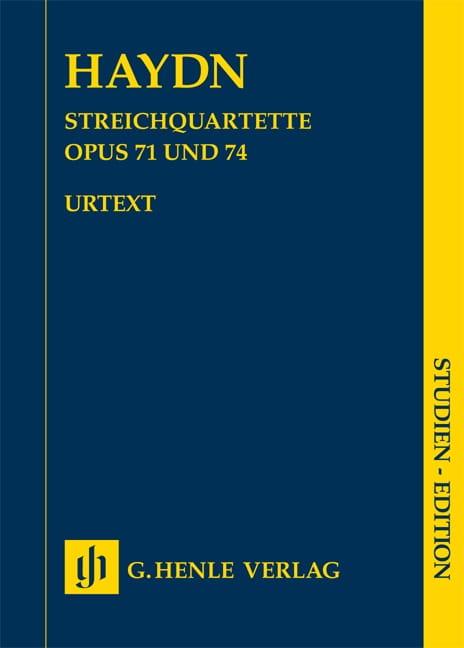 Streichquartette Opus 71 & 74 - HAYDN - Partition - laflutedepan.com